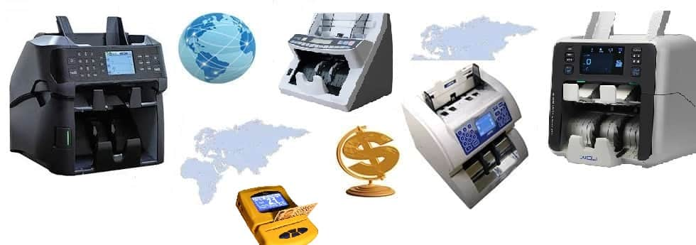 Discriminator counters, coin counters, money counters, cash counters, check encoders, ID scanners